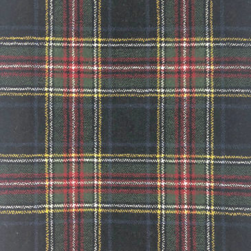 Stewart Black Tartan Rug Bespoke Sizes