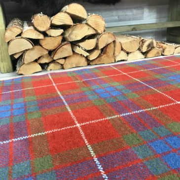 Fraser Weathered Tartan Rug Bespoke Sizes