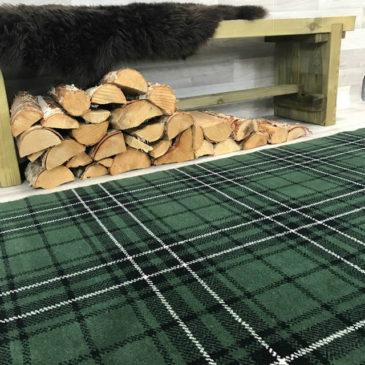 MacLean Hunting Tartan Rug