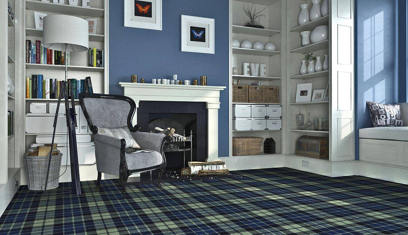 Mackay Hunting Tartan Carpet Stevens Graham