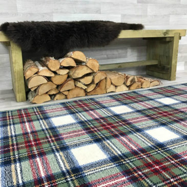 Stewart Dress Tartan Rug Bespoke Sizes