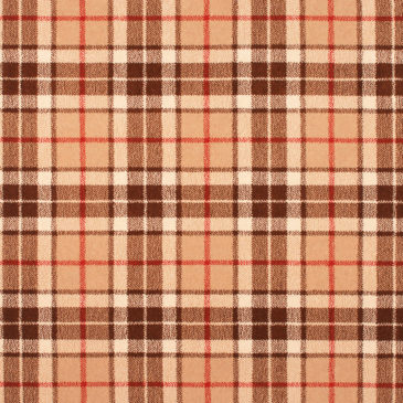 Thompson Brown Tartan Rug