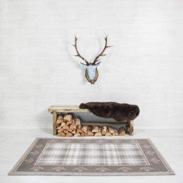 Cawdor Thistle Border Rug Bespoke Sizes
