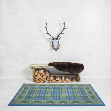 Macallum Thistle Border Rug Bespoke Sizes