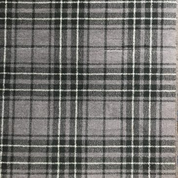 Heather Grey Tartan Rug