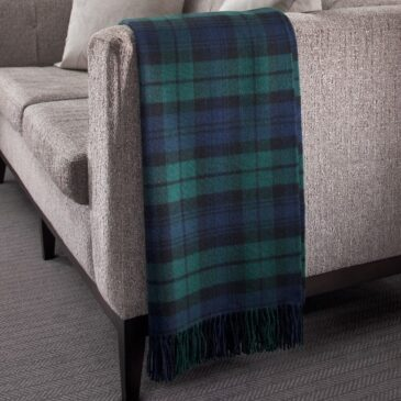 Black Watch Tartan Lambswool Throw