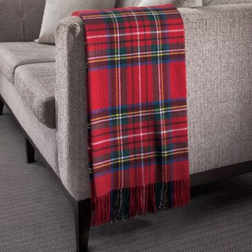 Royal Stewart Tartan Lambswool Throw