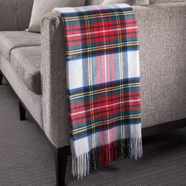 Stewart Dress Tartan Lambswool Throw
